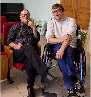Сергей Егорович Колпаченко и Егор Покровский
